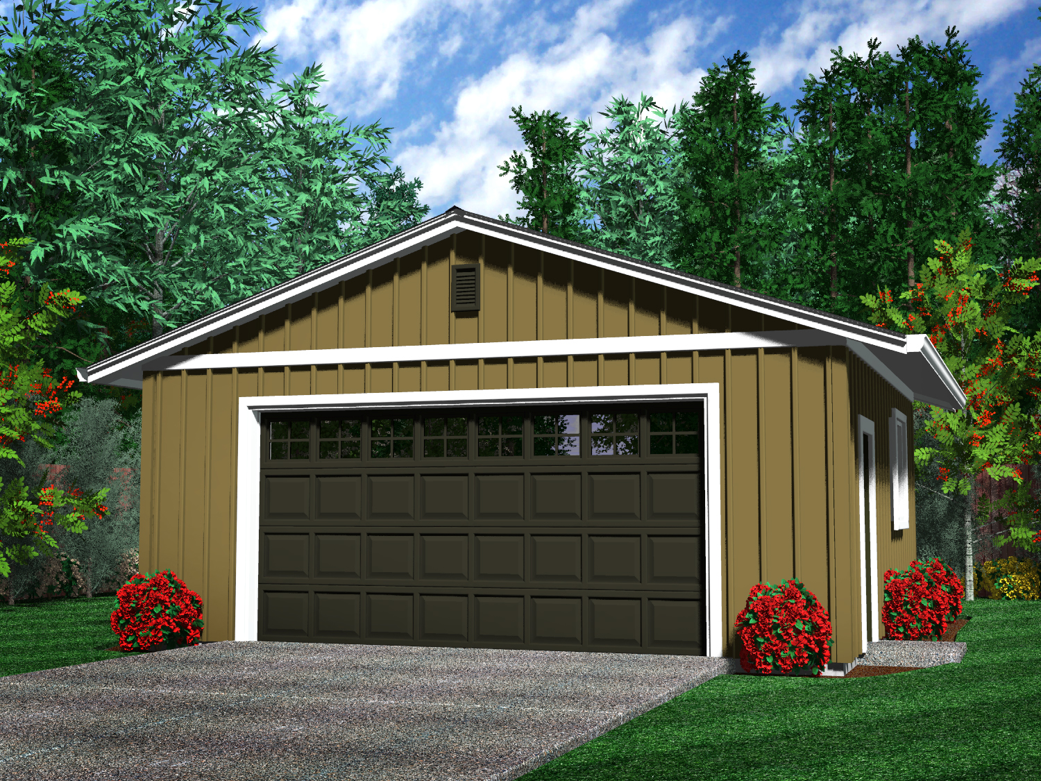 Detached garages for 2 car garage plans