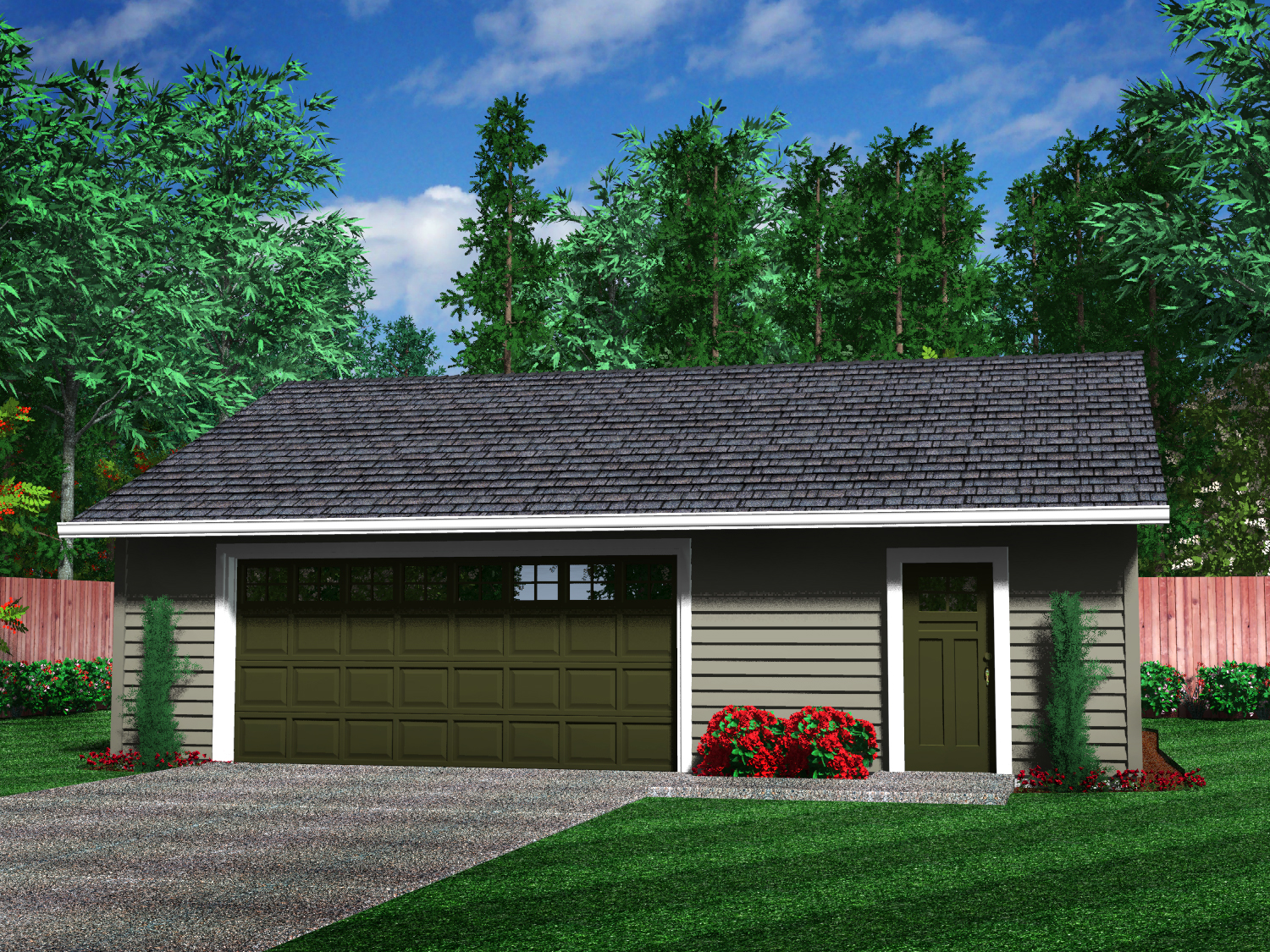 Detached garages for Garage with shop