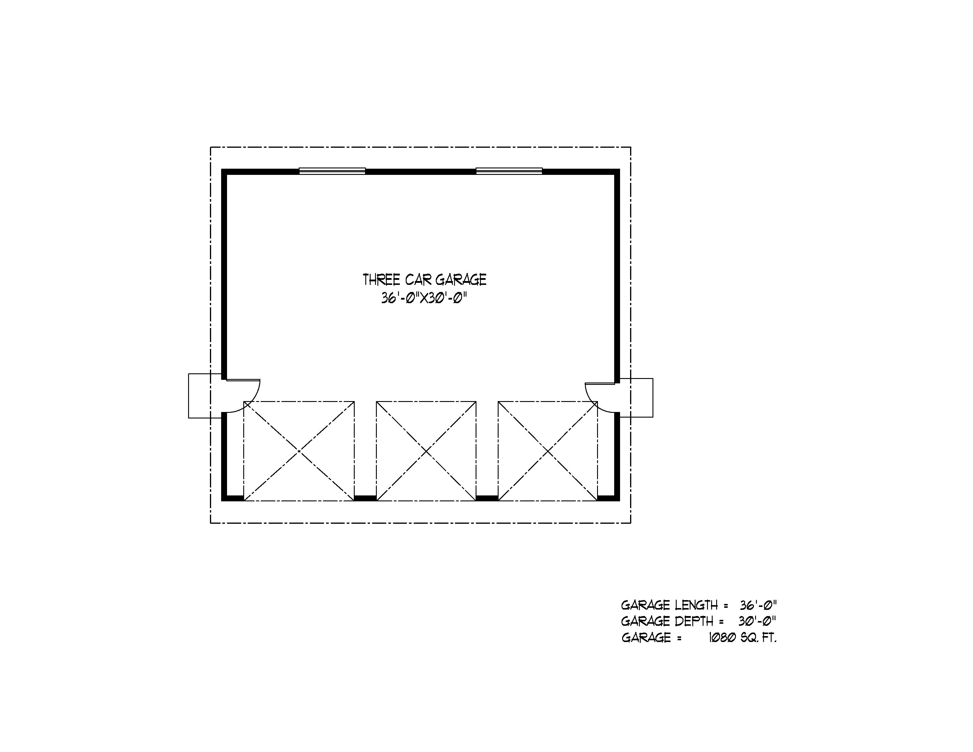 detached garages floorplan