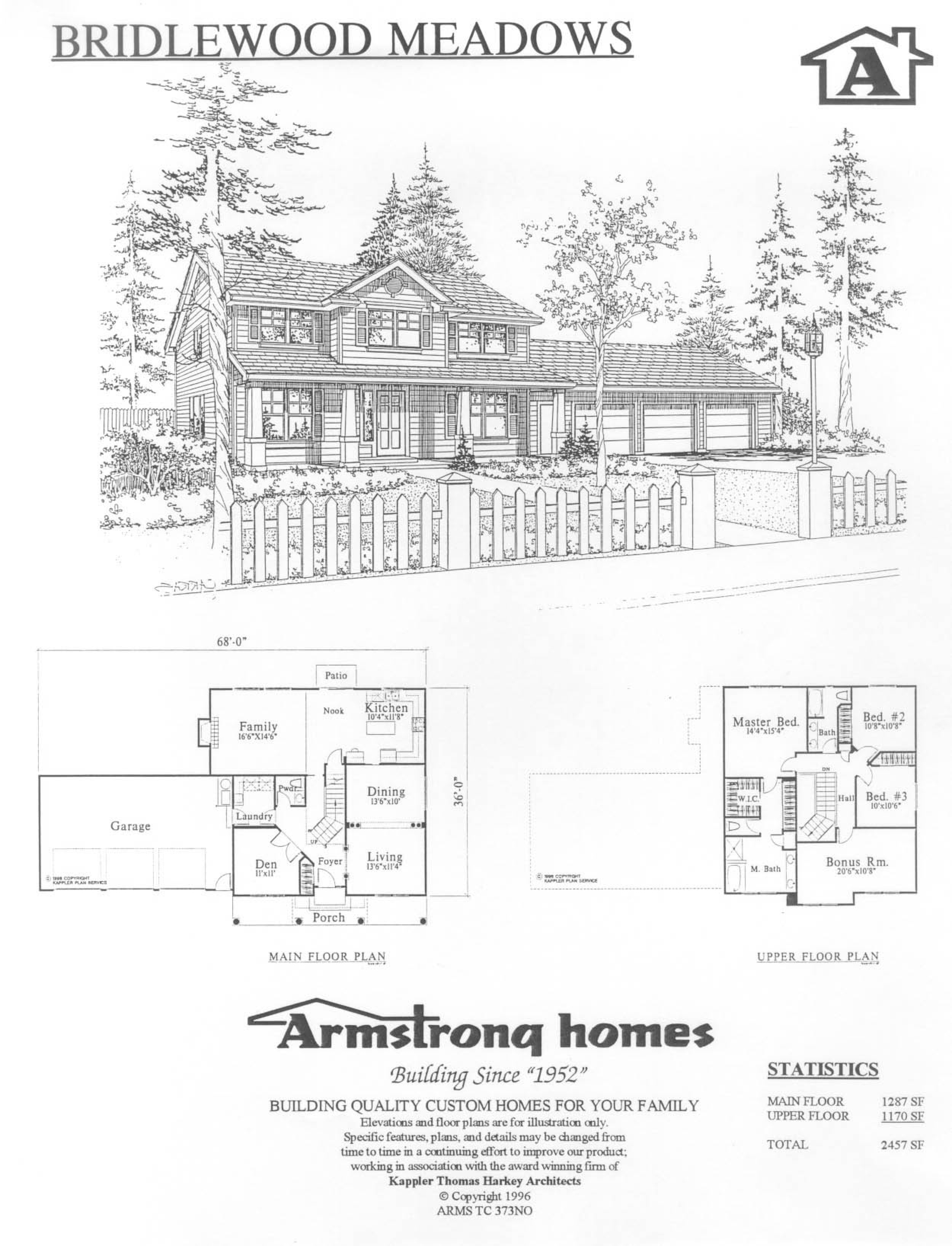 Traditional basic series for Armstrong homes floor plans