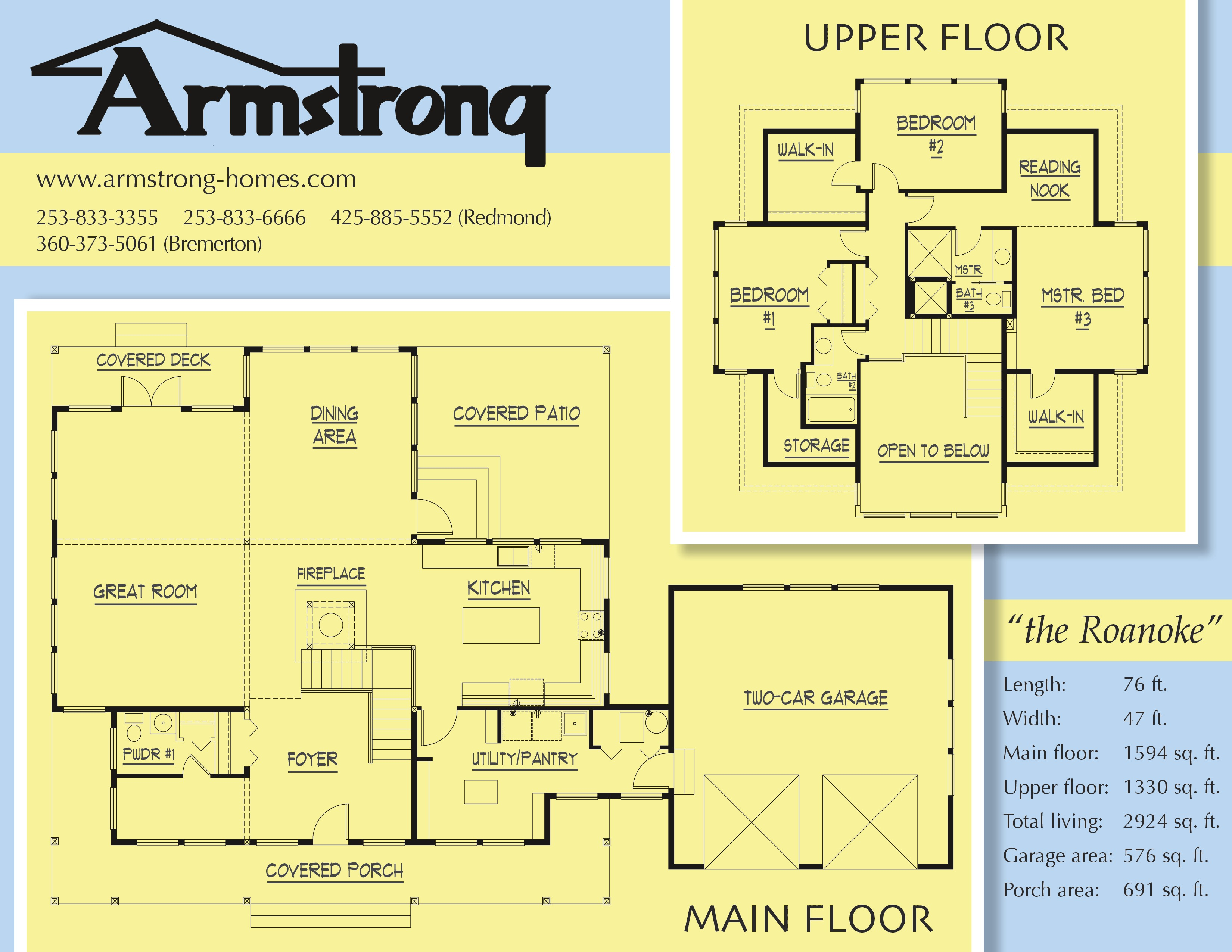 New floorplans for Armstrong homes floor plans
